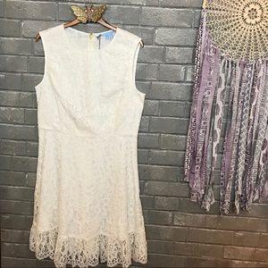 draper james // white lace sleeveless sundress 10